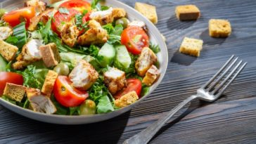 healthy salad and dressing